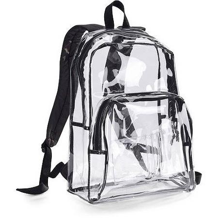 126593db06 Bulletproof Clear Transparent Backpack- NIJ Level IIIA Protection ...